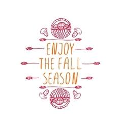 Enjoy the fall season - typographic element vector
