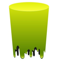 Green color melting down vector