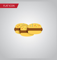 isolated cookies flat icon biscuit element vector image vector image