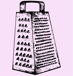 Kitchen grater vector