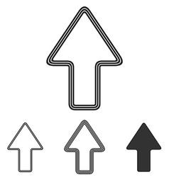 Line arrow logo design set vector