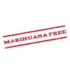 Marihuana free watermark stamp vector