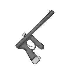 Paintball gun icon black monochrome style vector