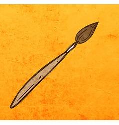 Paintbrush cartoon vector