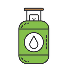 propane gas tank icon vector image