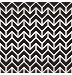 Seamless black and white geometric chevron vector