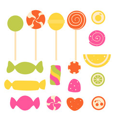 Set of sweet candy vector