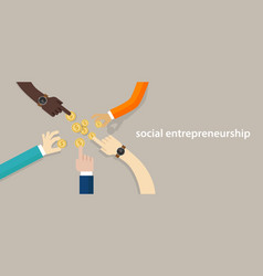 social entrepreneurship concept of business with vector image