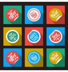 Sticker in flat style vector image