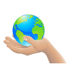 the world in your hand concept vector image vector image