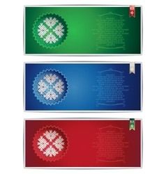Three Belarus vertical banners with traditional st vector image vector image