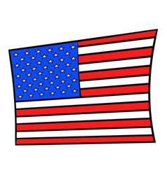 usa flag icon cartoon vector image vector image