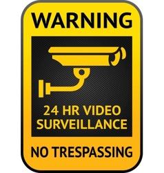 Video surveillance label vector image vector image