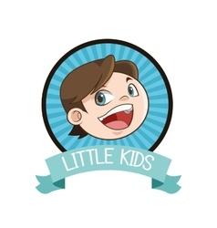 little boy inside seal stamp design vector image