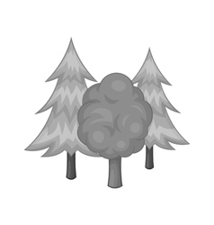 Forest icon black monochrome style vector