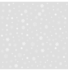 Winter christmas seamless texture with snowflakes vector