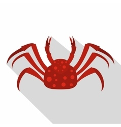 Red alaska crab icon flat style vector