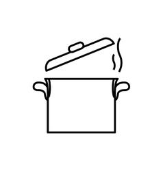 Saucepan kitchen utensil vector