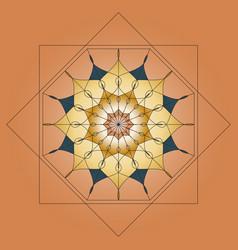 Mandala round ornament element for design on vector