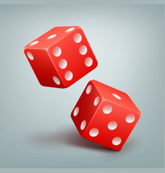 Red falling dice vector