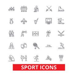 sport football soccer box hockey running vector image