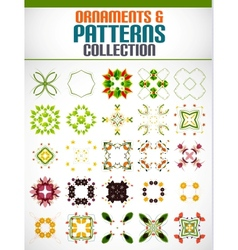 Abstract floral patterns shapes set for design vector image