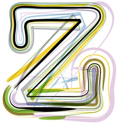 Organic Font letter z vector image