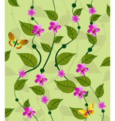 Vines flower pattern vector