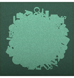 Back to School on Empty realistic green vector image