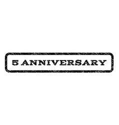 5 anniversary watermark stamp vector image vector image
