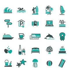signs vacation travel recreation third vector image