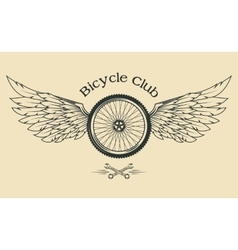 Bicycle Wheel with feathers vector image