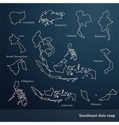 Southeast asia map vector