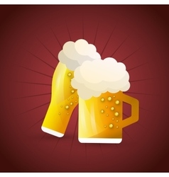 Beer product design vector