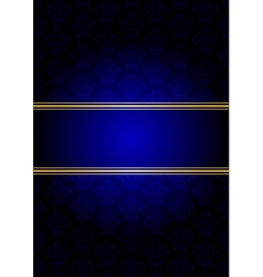 blue and gold background vector image