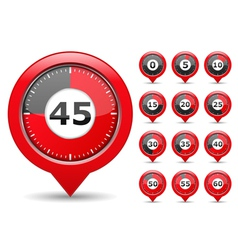 Red timers vector