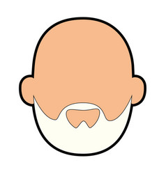 Avatar grandfather cartoon vector