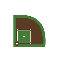 Baseball field flat icon vector image