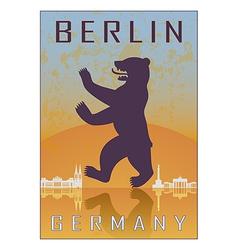 Berlin vintage poster vector image