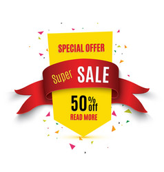 big sale bannersuper sale banner ribbon vector image