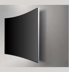 black led tv television screen blank on walll vector image
