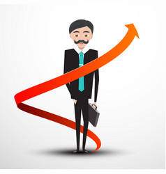 businessman with arrow vector image vector image