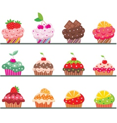 cupcakes on a regiment vector image vector image