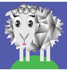 Cute sheep vector