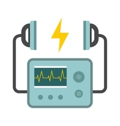Defibrillator unit isolated medical heart vector