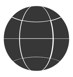 earth glove with latitudes and meridians icon vector image