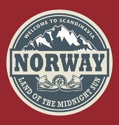 Emblem with the text Norway vector image vector image