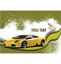 fast cars vector image vector image
