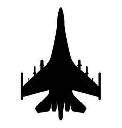 Fighter aircraft silhouette military equipment vector