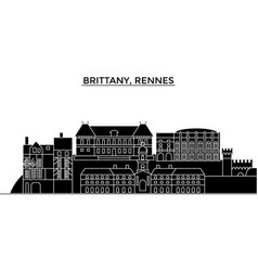 france brittany rennes architecture city vector image